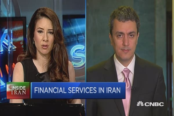 Iran's growing financial services.