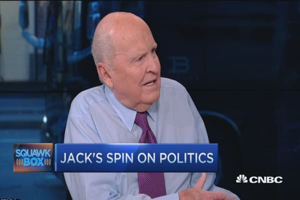 Jack Welch way ahead on Ted Cruz