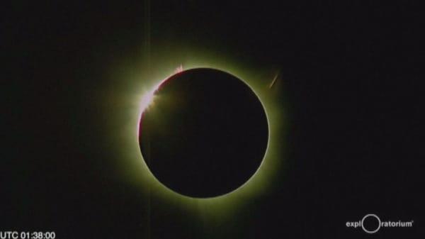 A rare total solar eclipse