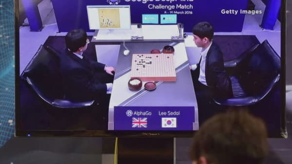 Google's AI system AlphaGo takes on human Go game champion
