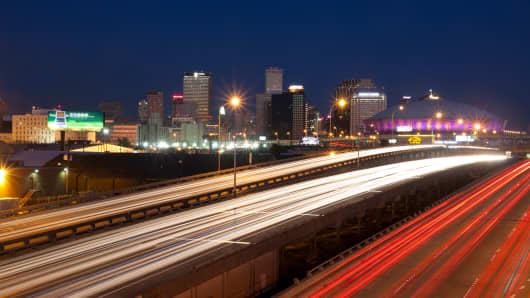 New Orleans, Louisiana Downtown Skyline