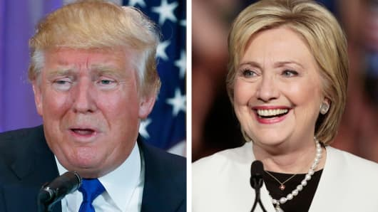 Republican candidate Donald Trump and Democratic candidate Hillary Clinton.
