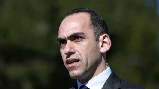 Harris Georgiades, Cyprus' finance minister