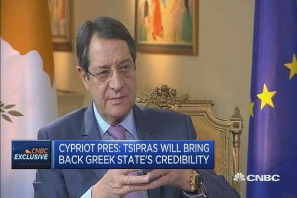 Cypriot president gives advice to Greece