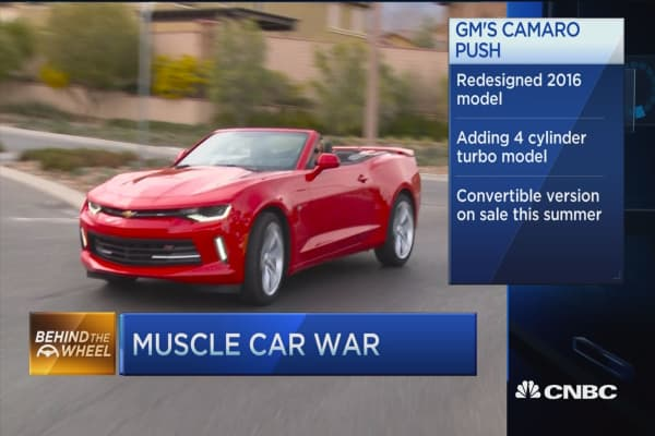Camaro redesigns muscle car