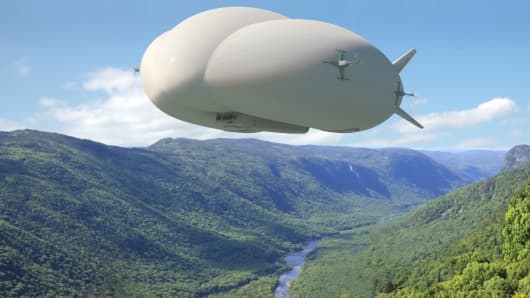 Lockheed Martin's new LMH1 airship to hit the market in late 2018.