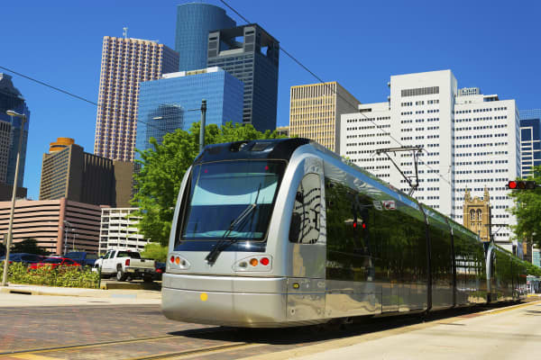 Houston Metrorail Light rail train