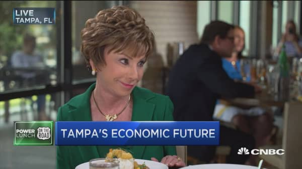 USF President on student debt, politics