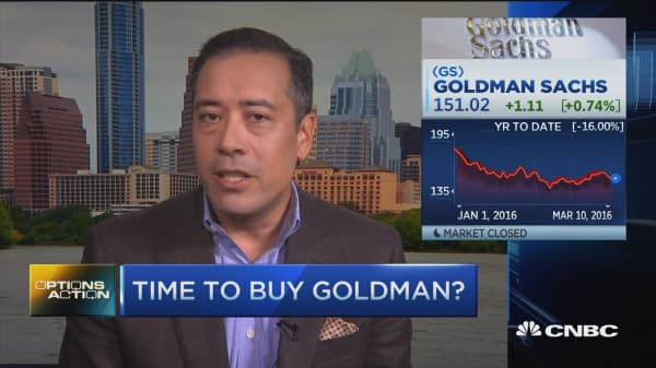 Options Action: Time to buy Goldman?