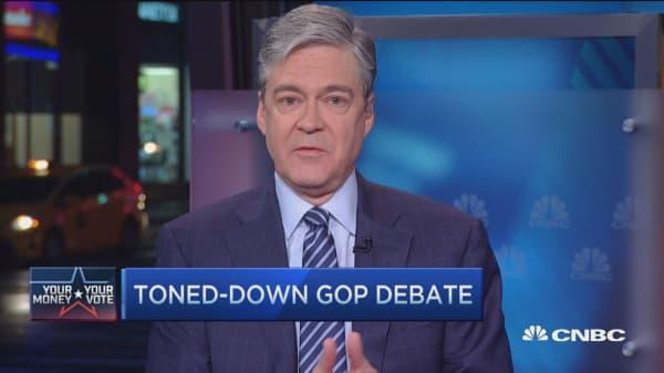 Toned-down GOP debate