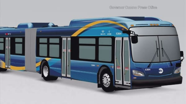 New NYC buses offer free Wi-Fi, USB ports