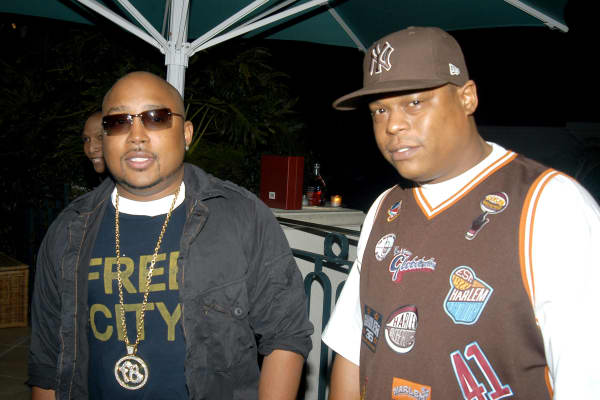 Fubu's Daymond John and Keith Perrin circa 2003.