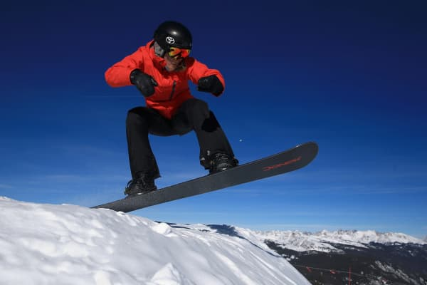 Amy Purdy in action during training on Dec. 18, 2013, in Copper Mountain, Colorado.