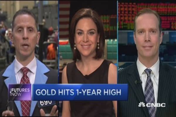 Futures Now: Gold hits 1-year high
