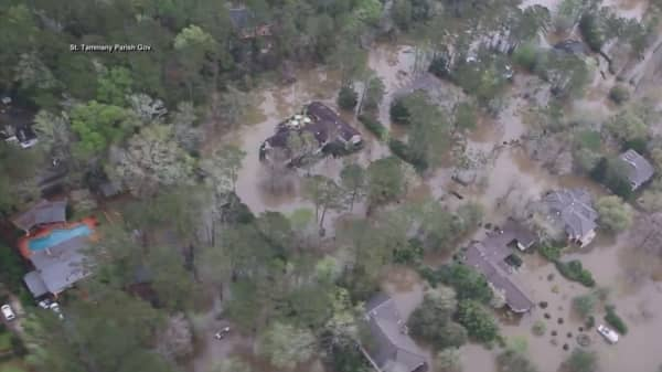 Flood problems just beginning in the South