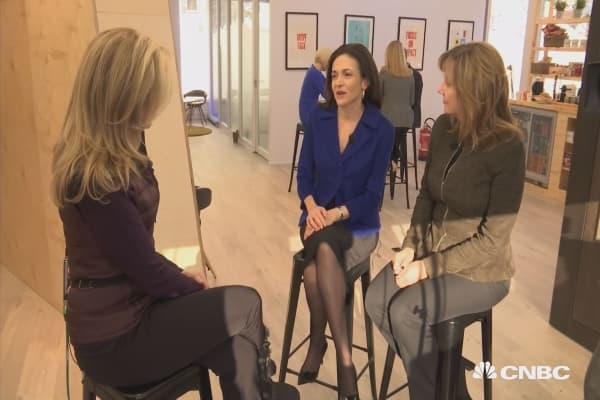 Face to face with Facebook's Sheryl Sandberg & GM's Mary Barra