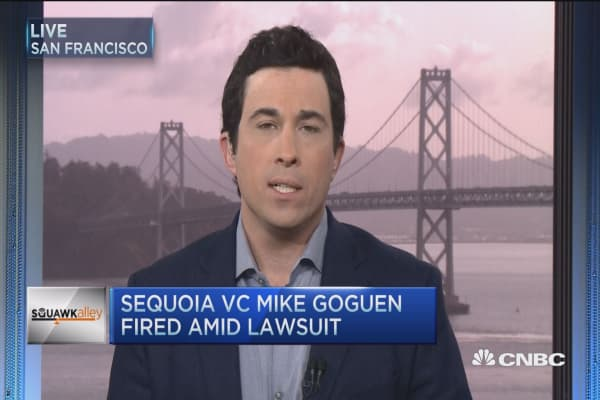 Sequoia VC Mike Goguen fired amid lawsuit