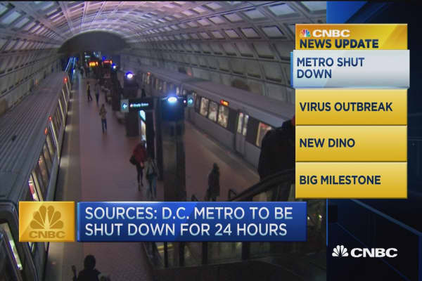 CNBC update: DC metro shut down