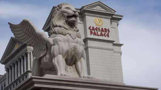 The Caesars Entertainment Corp.'s Caesars Palace hotel stands in Las Vegas, Nevada.