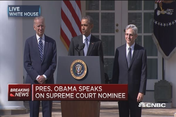 Obama speaks on Supreme Court nominee