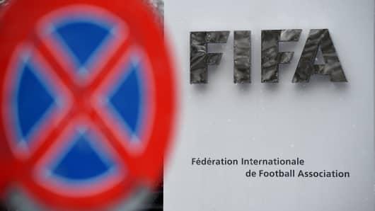 FIFA logo seen near the headquarter