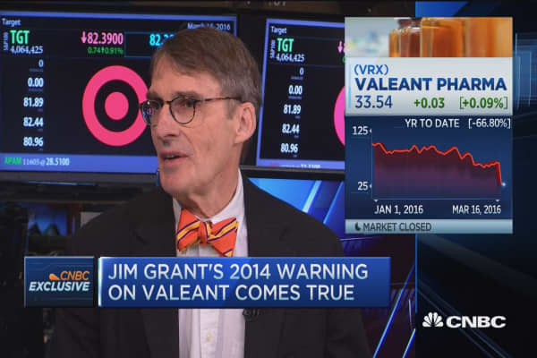 Jim Grant's 2014 warning on Valeant comes true