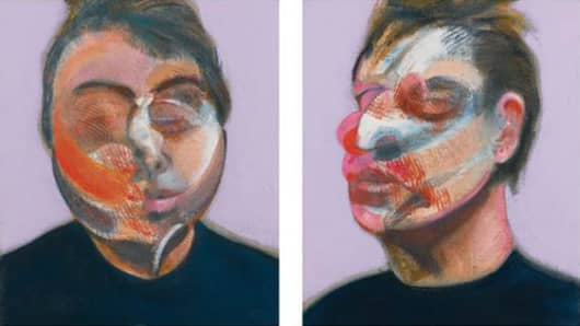Francis Bacon, Two Studies for a Self-Portrait (1970), estimate $22-30 million