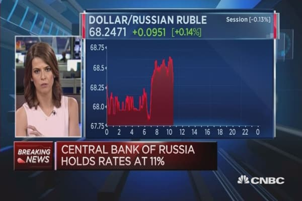 Russia's central bank holds rates