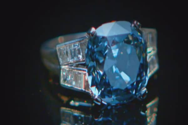 Shirley Temple's rare blue diamond ring to be auctioned starting at $25m