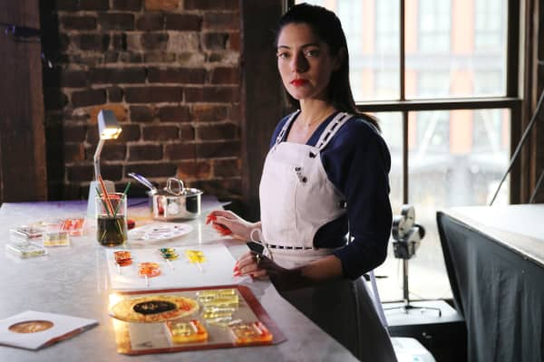 "Entrepreneur Maayan Zilberman is the creator of candy line ""Sweet Saba."""