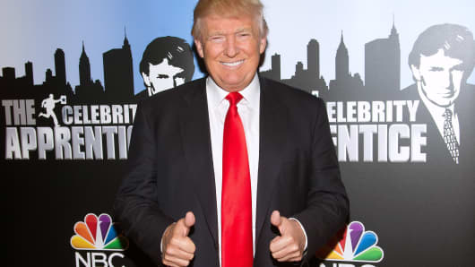 Donald Trump attends the 'Celebrity Apprentice' Red Carpet Event at Trump Tower on January 5, 2015, in New York City.