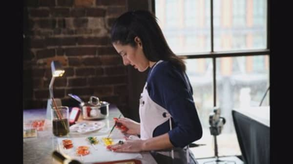This entrepreneur is selling edible works of art