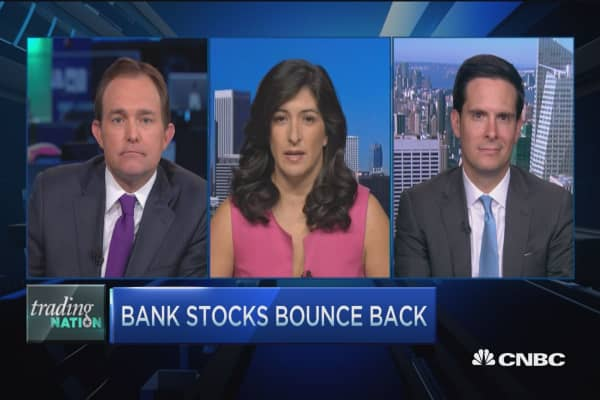 Trading Nation: Bank stocks bounce back