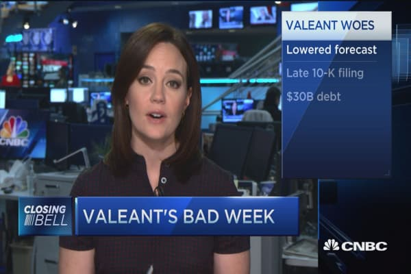 Valeant's dismal week