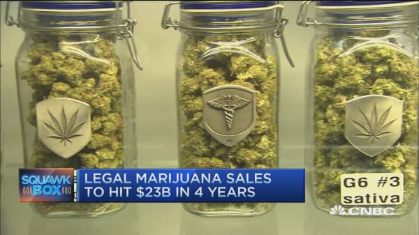 Legal marijuana sales keep growing