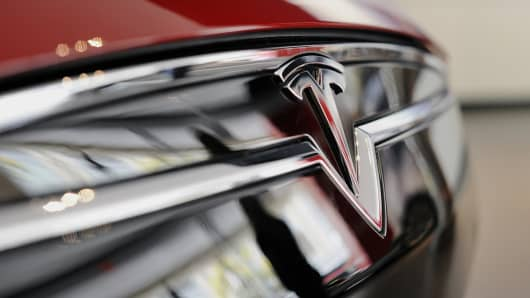 The Tesla Motors Inc. logo.