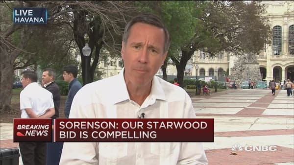 Marriott CEO: Our Starwood bid is compelling