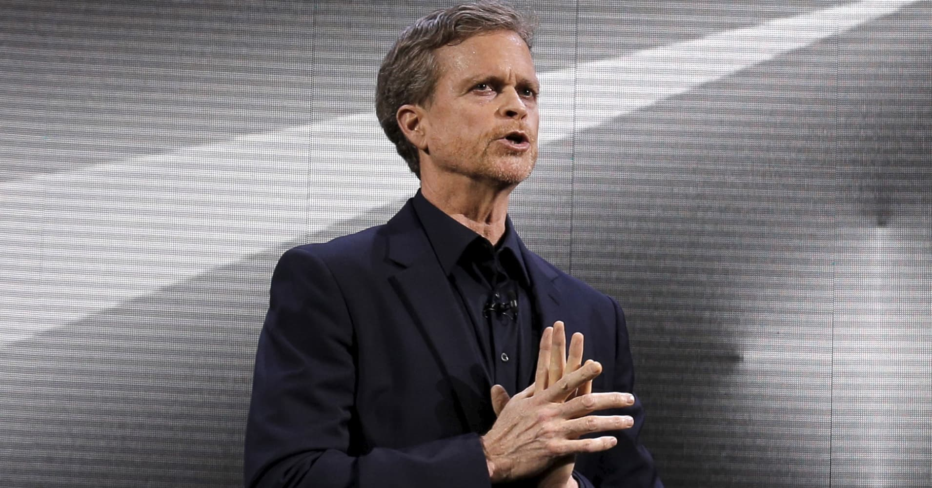 Nike CEO Mark Parker speaks during a launch event in New York March 16, 2016.
