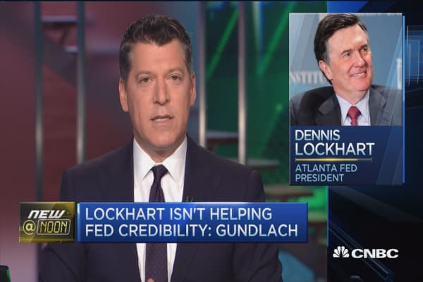 Lockhart isn't helping Fed cred: Gundlach