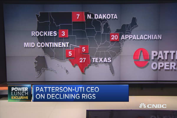 Patterson-UTI CEO on declining rigs and oil prices