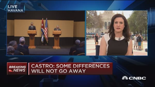 Castro makes opening statements on Obama's visit