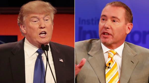 Donald Trump and Jeffrey Gundlach