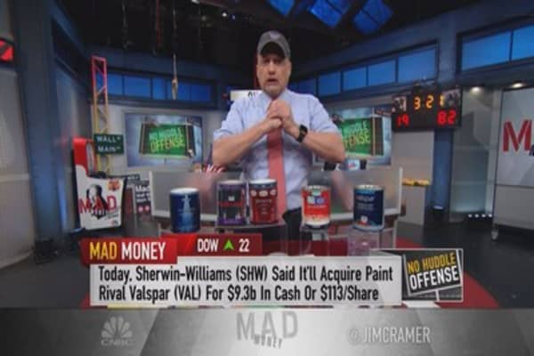 Cramer: Sherwin-Williams deal a 'shocker'