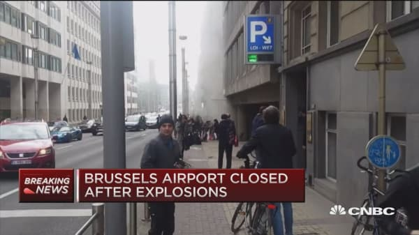Explosions in Brussels, public transport closed