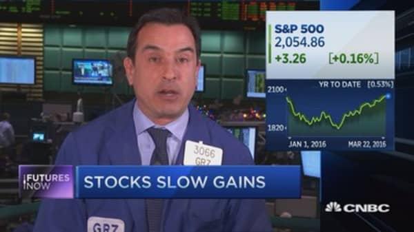 Stocks snap winning streak