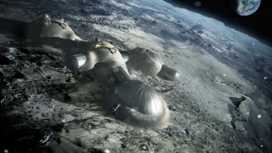 The European Space Agency's prospective Moon Village.