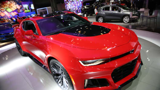 The Chevy Camaro ZL1 introduced at the New York International Car Show at the Javits Center on March 23, 2016 in New York, NY.