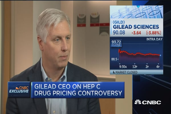 Gilead CEO on drug pricing controversy