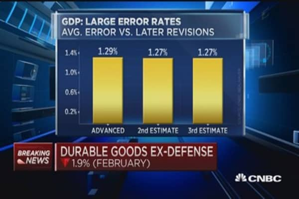 Problems in GDP data
