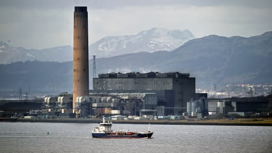 Longannet Power Station in Clackmannan in Scotland.